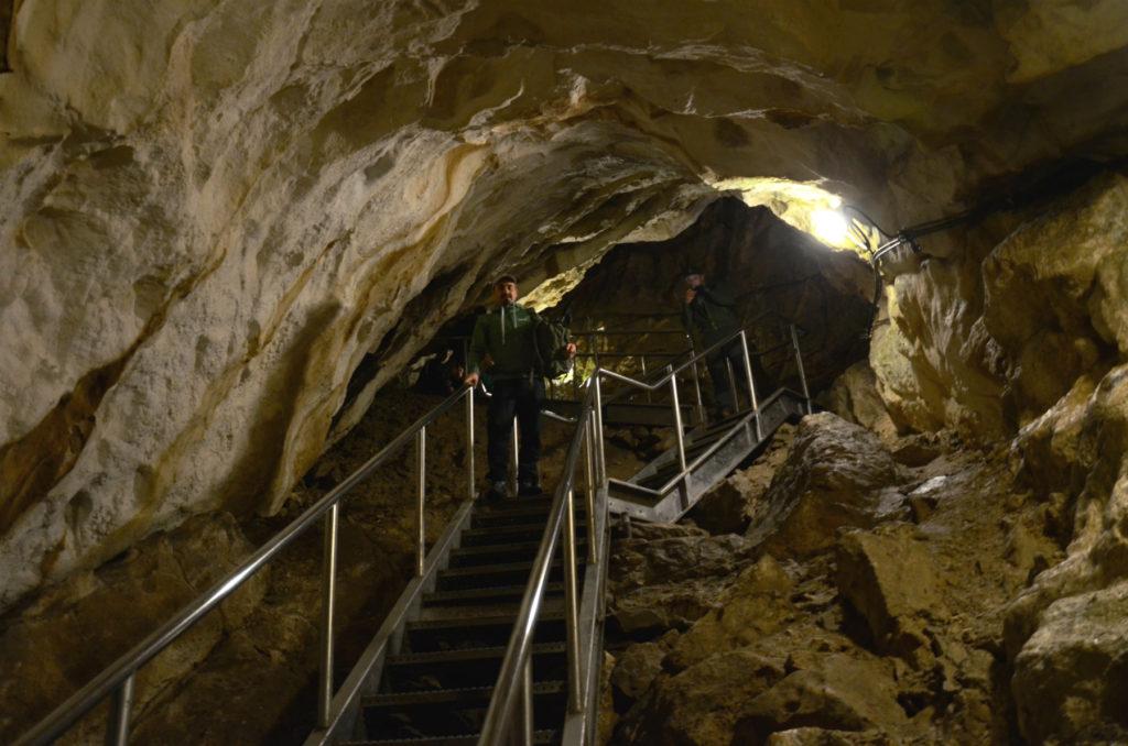 Jaskinia Mroźna - większa komnata ze schodami