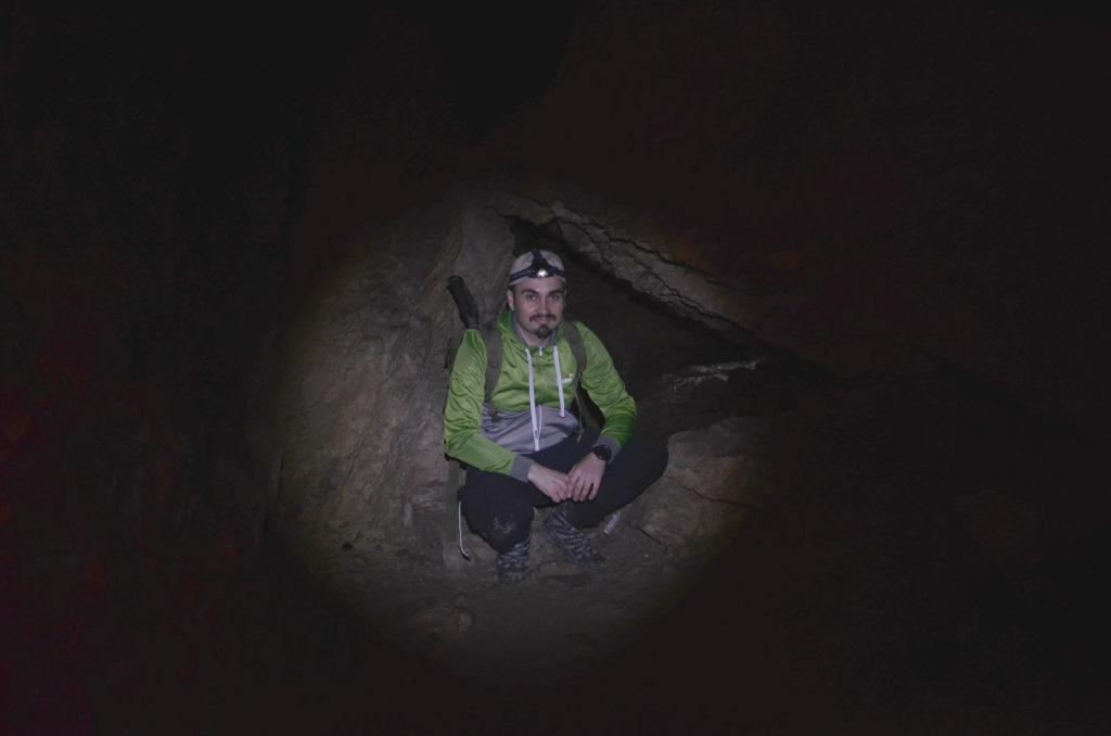 Jaskinia Mylna - w świetle czołowki