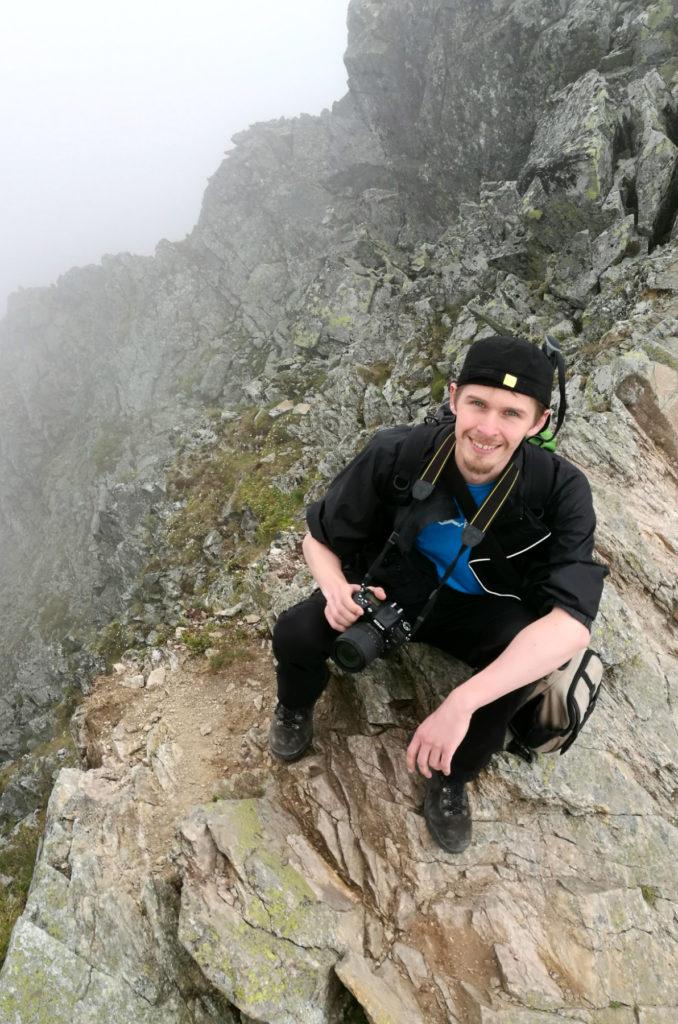 Rysy - na przełęczy między polskim a słowackim wierzchołkiem