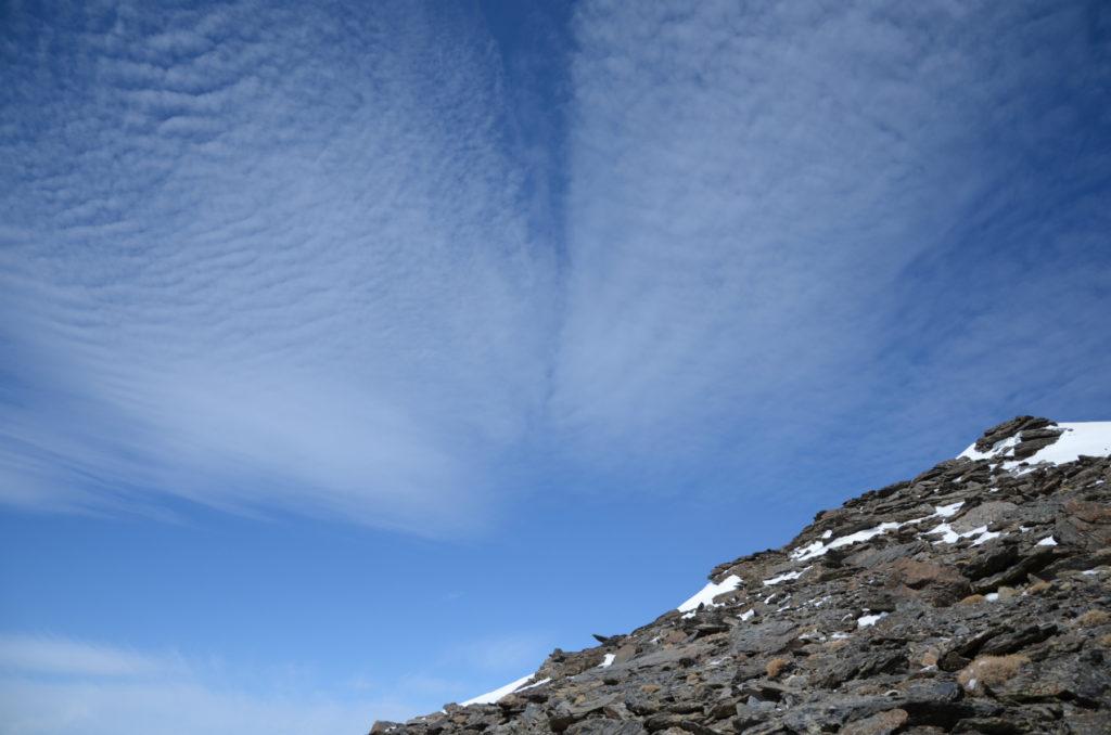 Mulhacén - chmury