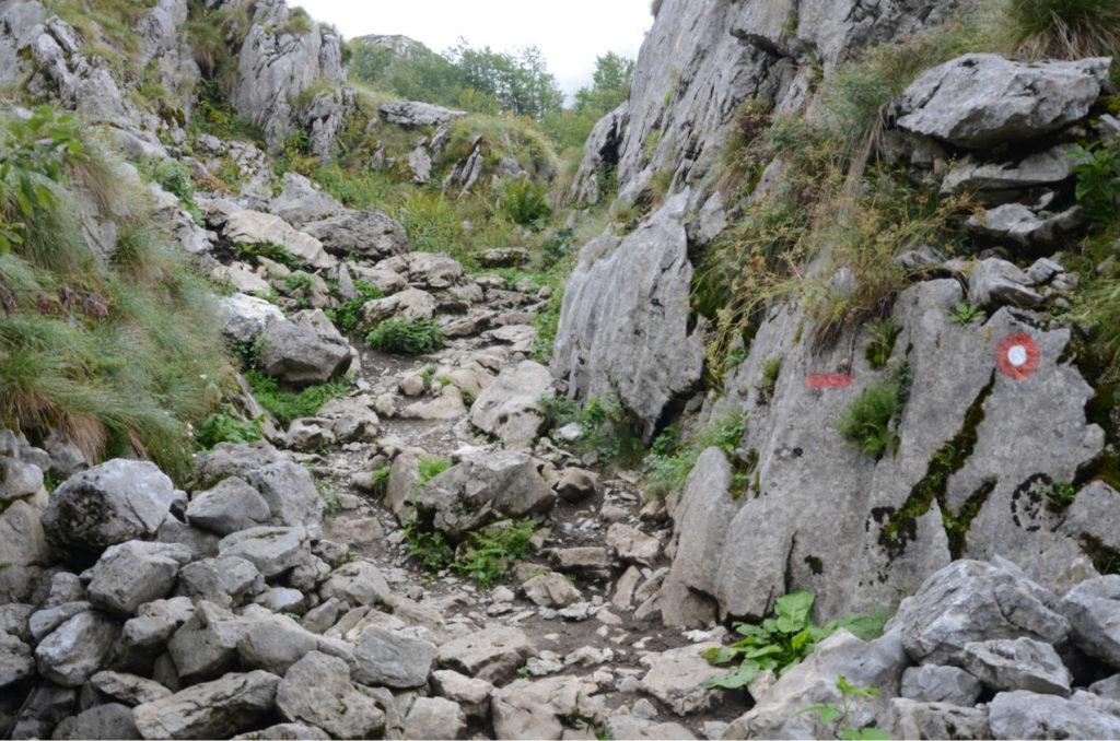 Zla Kolata - skalny szlak początek