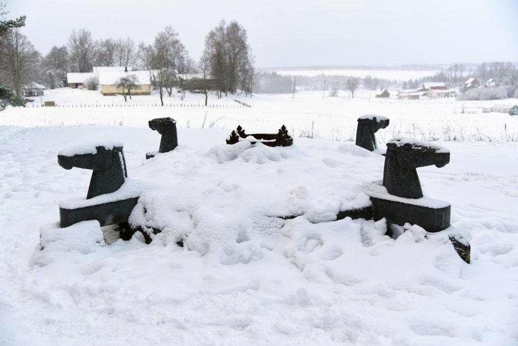 Koło Słoneczne Bałtów - rzeźba Dalia Matulaitė