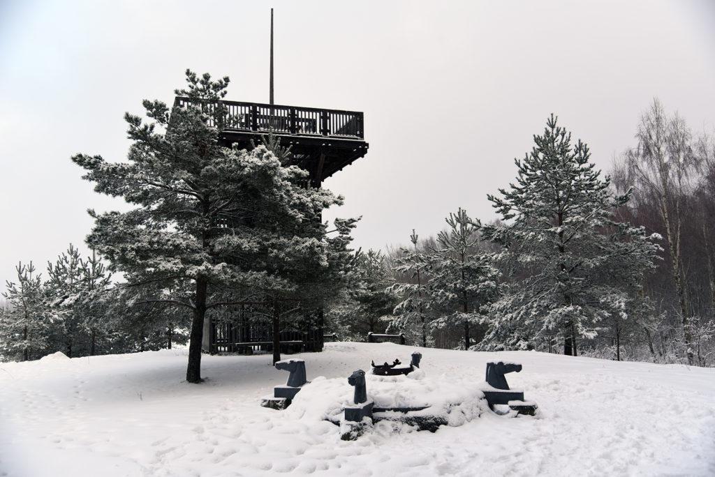 Aukštojas - Wieża widokowa i Koło Słoneczne Bałtów