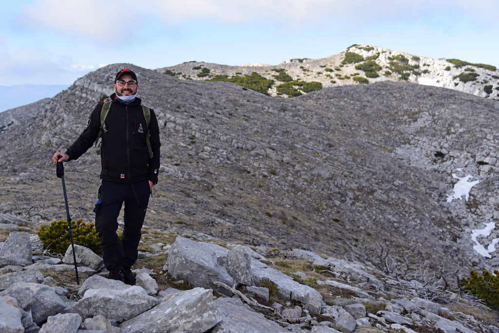 Vrh Dinare - szlak granią