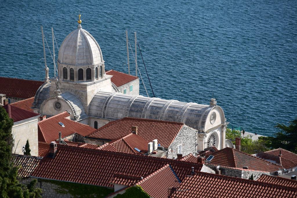 Katedra w Szybeniku - widok z Twierdzy Św Michała