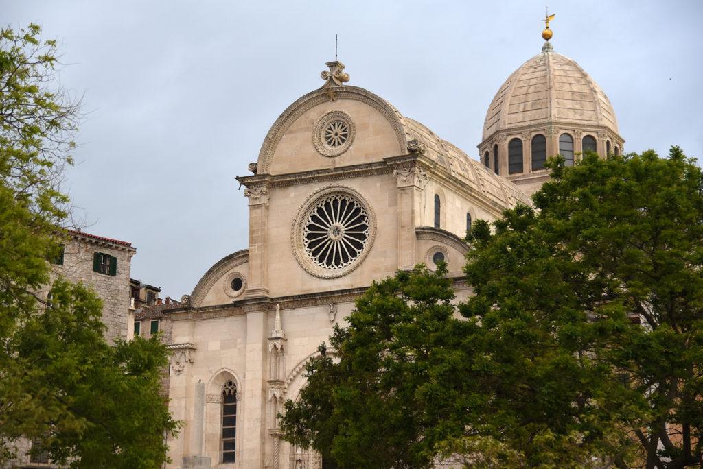 Katedra w Szybeniku - widok z nadrzeża