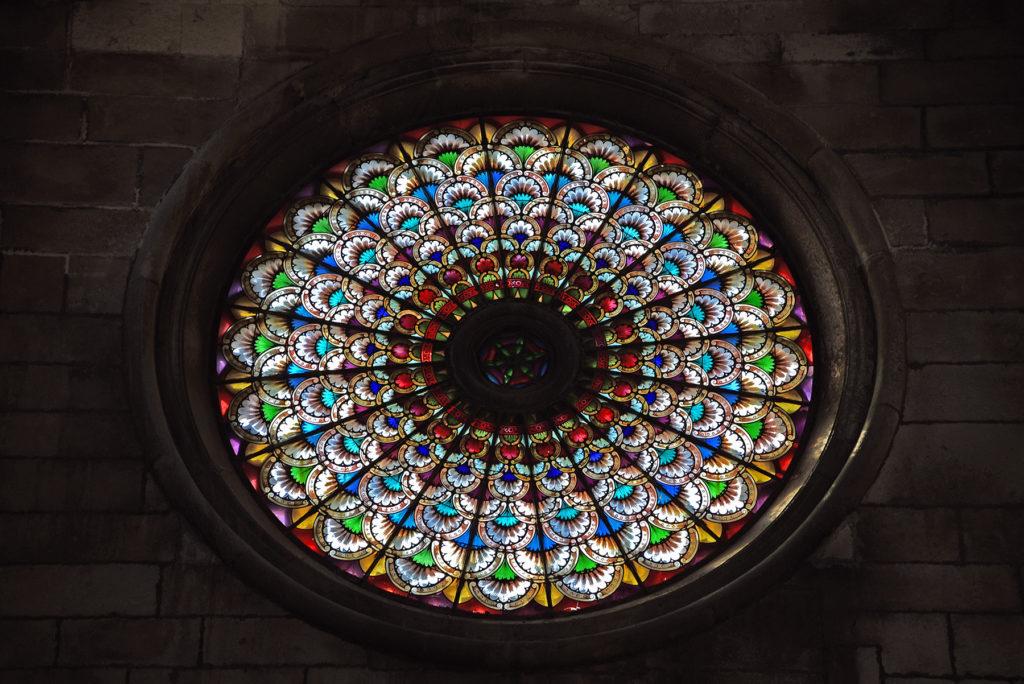 Katedra w Szybeniku - wnętrze - rozeta