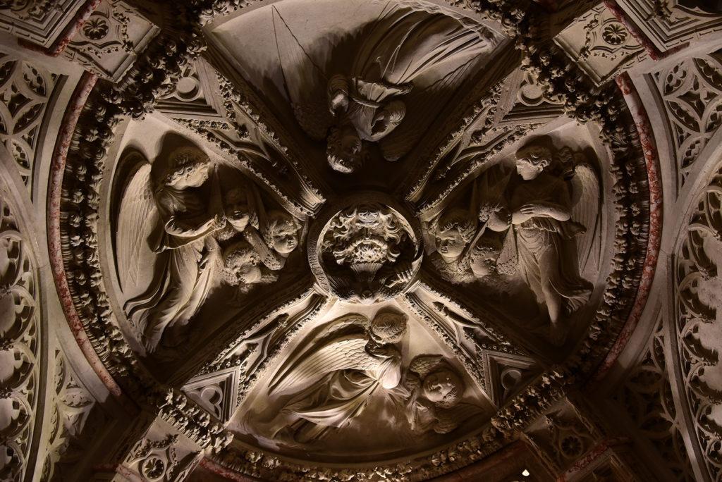 Katedra w Szybeniku - wnętrze - sufit w baptysterium