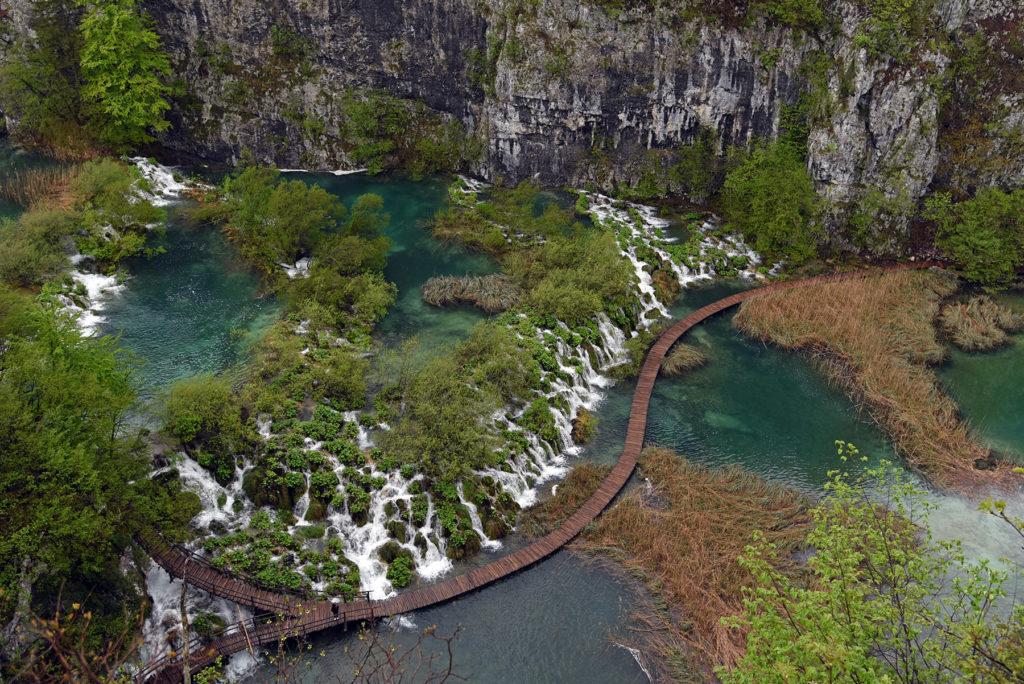 Plitwickie Jeziora - kładka nad jeziorem Gavanovac