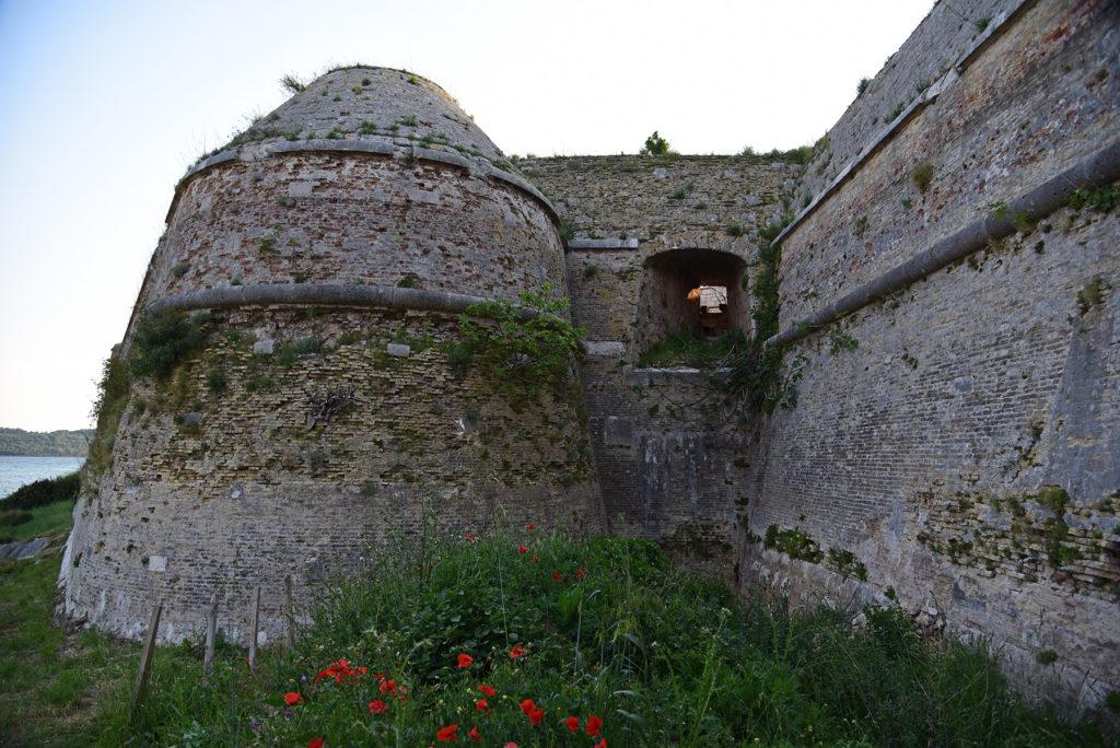 Szybenik - południowo-zachodnia ściana Twierdzy świętego Mikołaja przejmowana przez roślinność