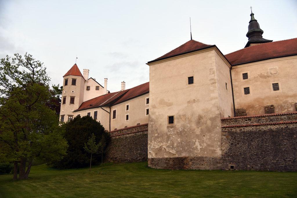 Telcz - zamek od strony Telczańskiego Potoku