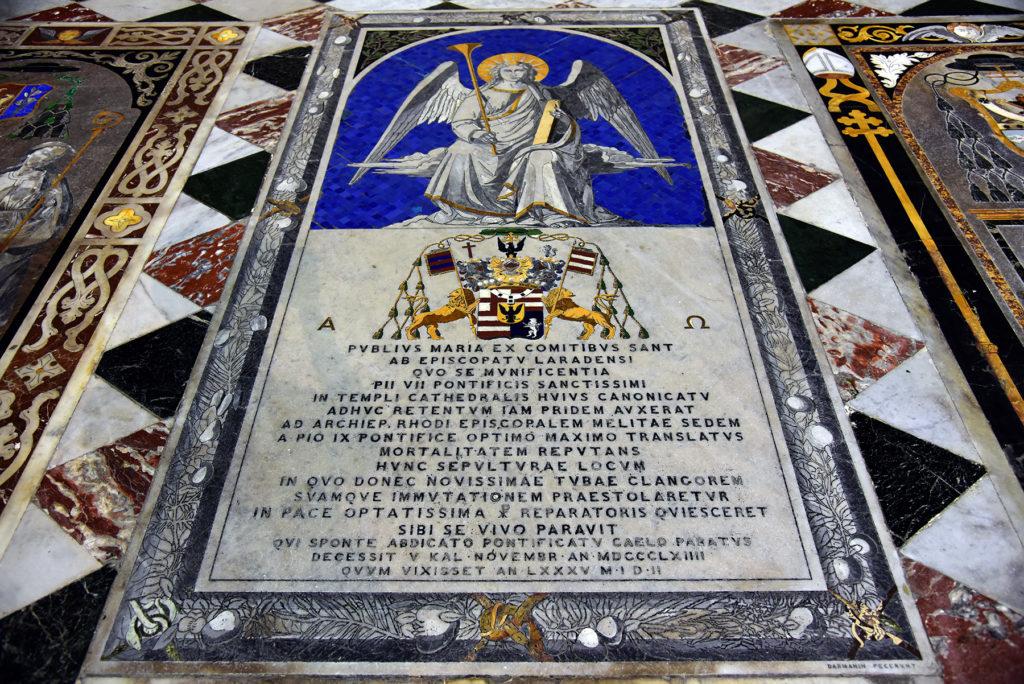 Katedra w Mdinie - jedna z płyt