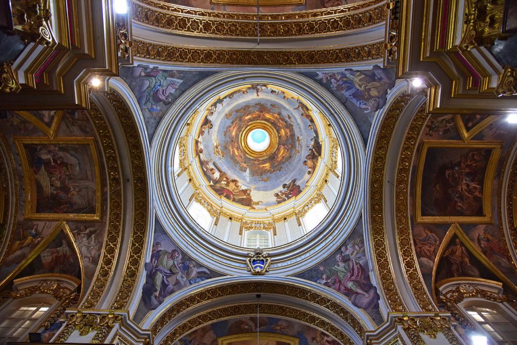 Katedra w Mdinie - kopuła nad ołtarzem głównym