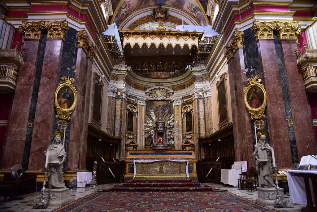 Katedra w Mdinie - ołtarz główny