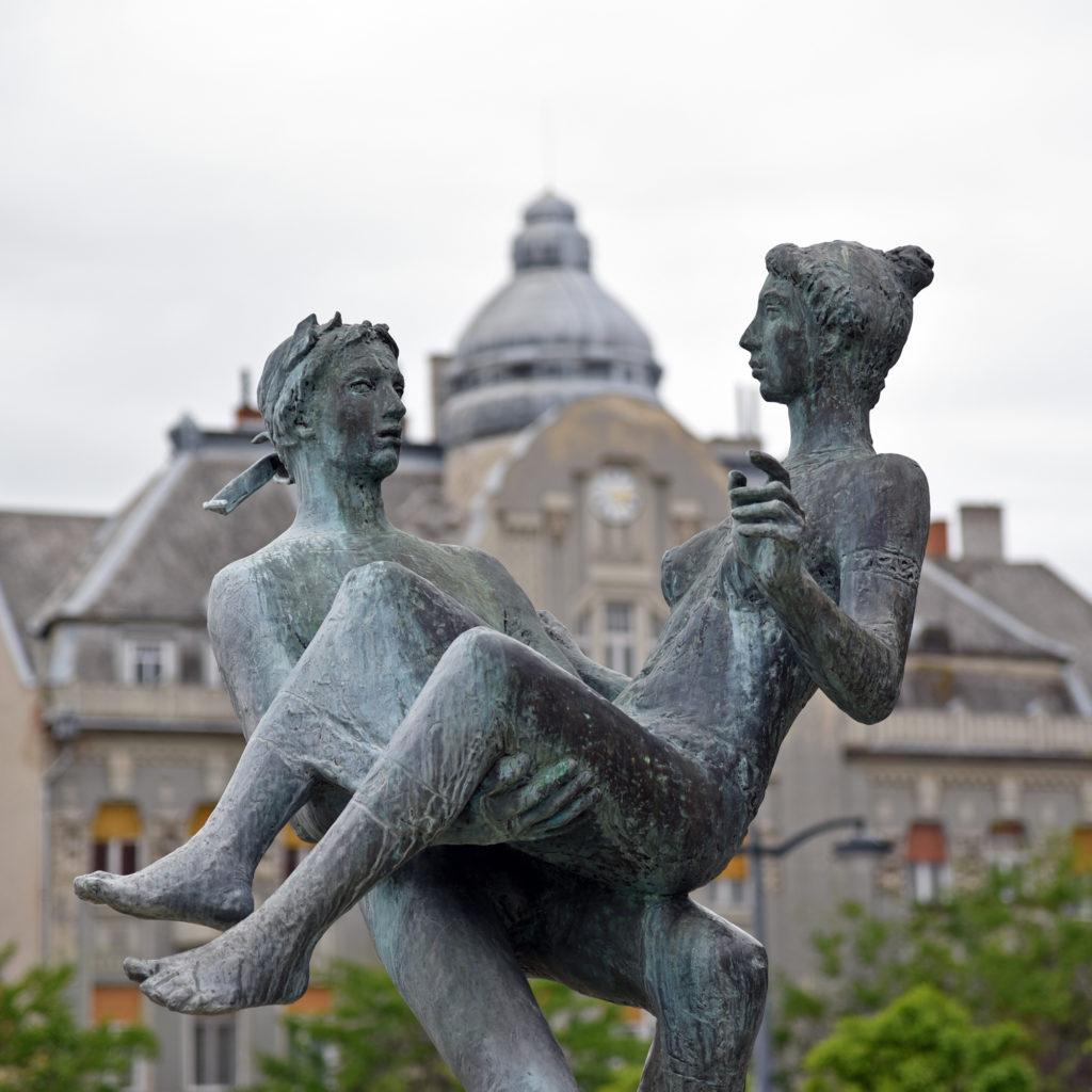 Szombathely - rzeźba na Rynku