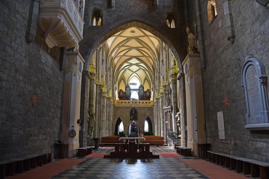 Třebíč - Bazylika św. Prokopa - nawa główna