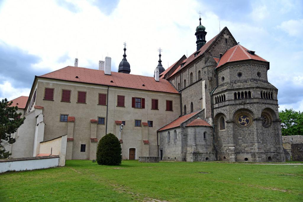 Třebíč - Bazylika św. Prokopa od strony ogrodów