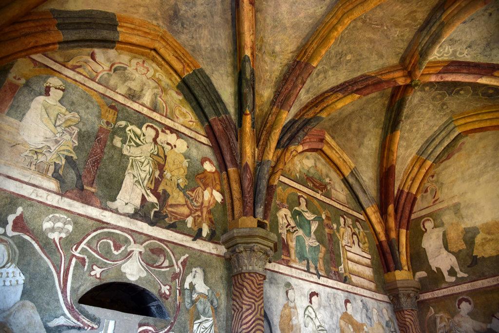 Třebíč - Bazylika św. Prokopa - polichromia w Zakrystii