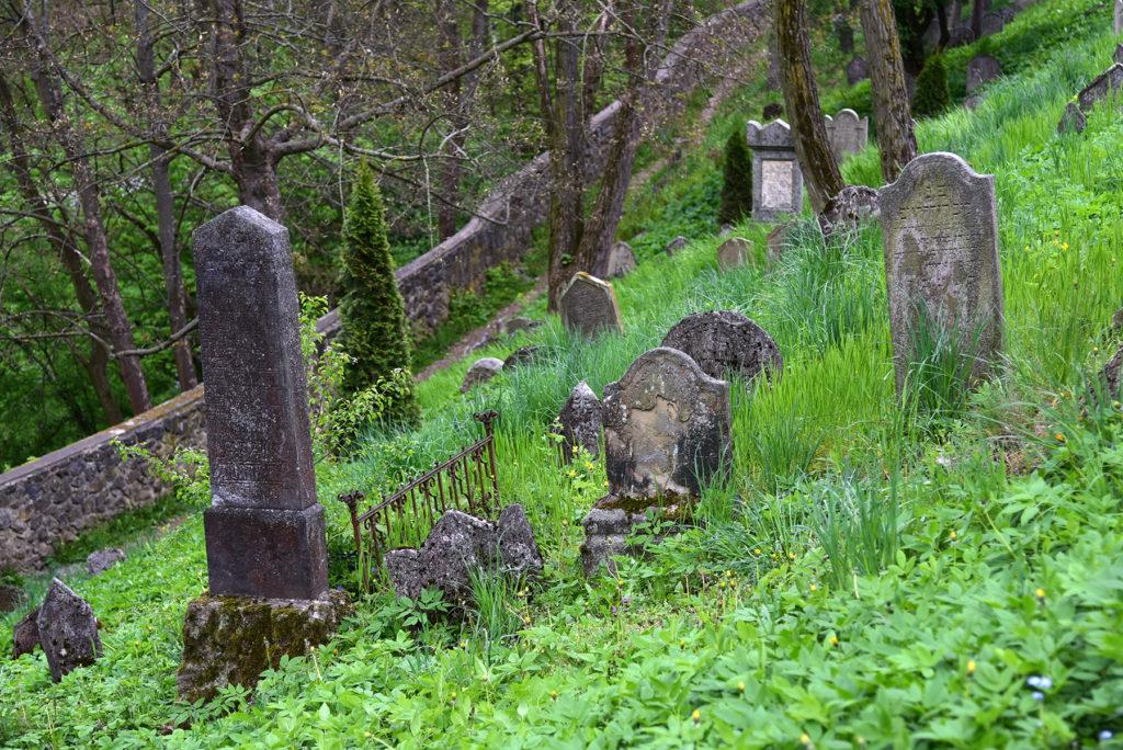 Třebíč - Cmentarz Żydowski - macewy na zboczu