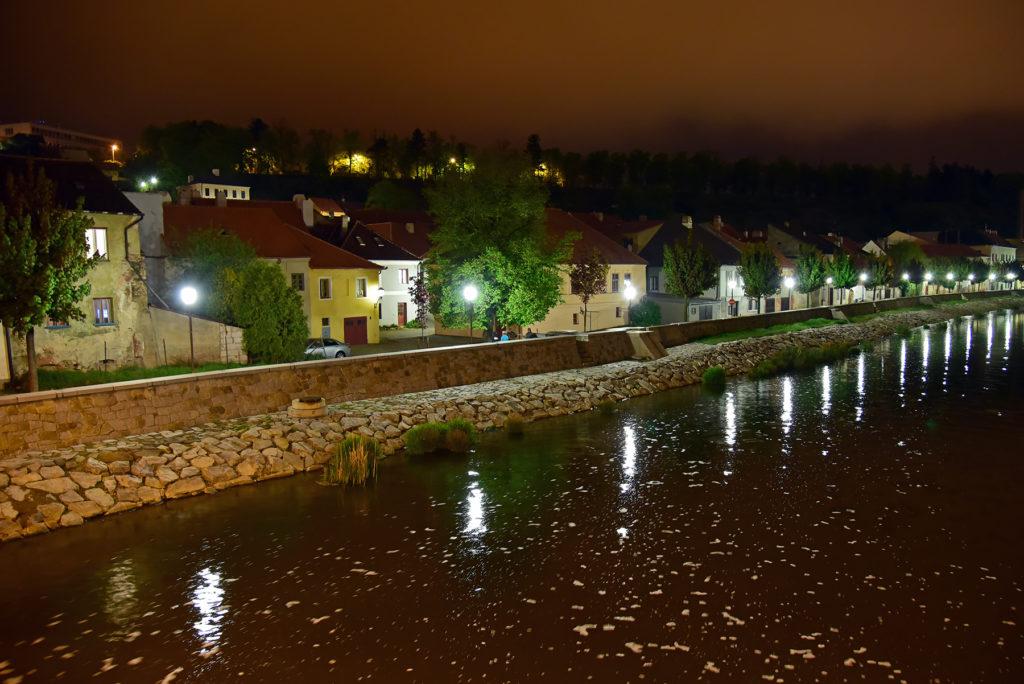 Dzielnica Żydowska - Havlíčkovo nabrzeże nocą