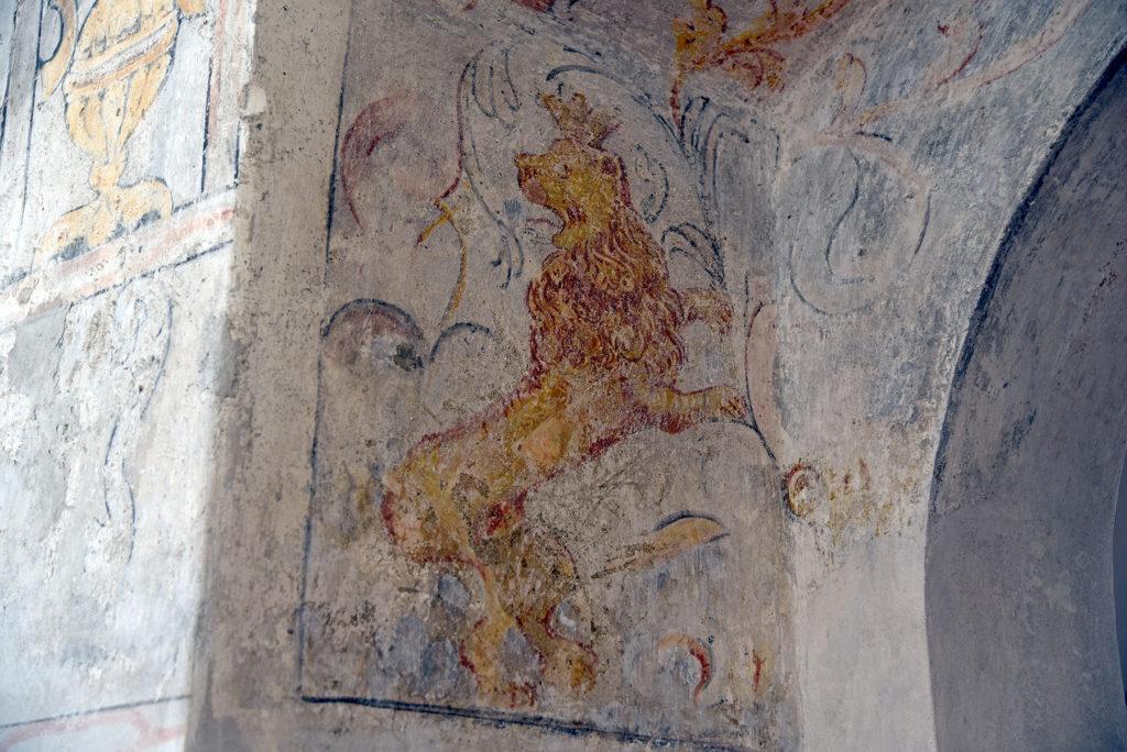 Třebíč - Dzielnica Żydowska - malunek lwa