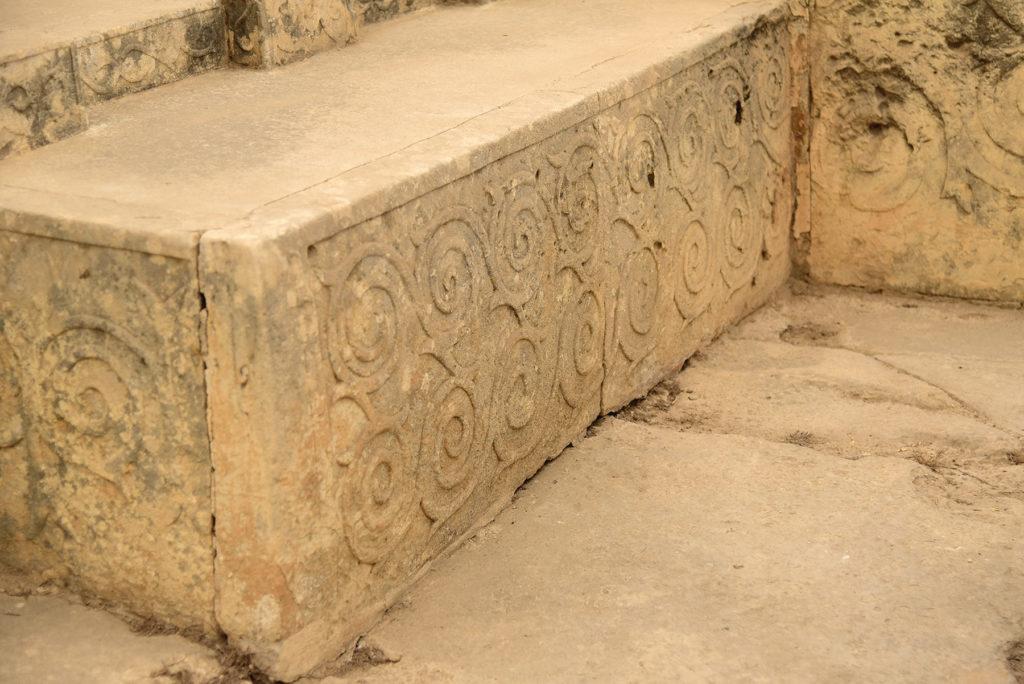 Tarxien - geometryczne reliefy - zbliżenie