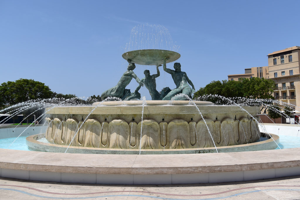 Valletta - Fontanna z Trytonami