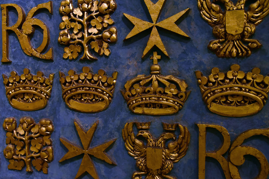 Katedra św. Jana - detale na ścianach