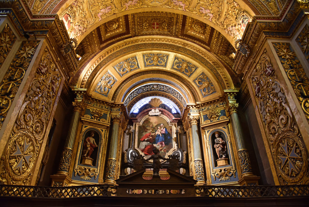 Katedra św. Jana - obraz w ołtarzu nawy bocznej lewej