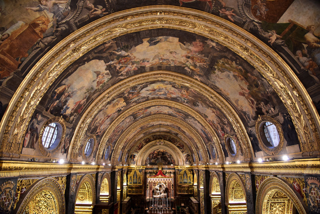 Katedra św. Jana - sufit widziany z chóru