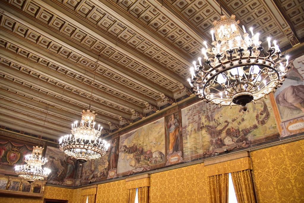 Pałac Wielkiego Mistrza - sufit w sali z tronem
