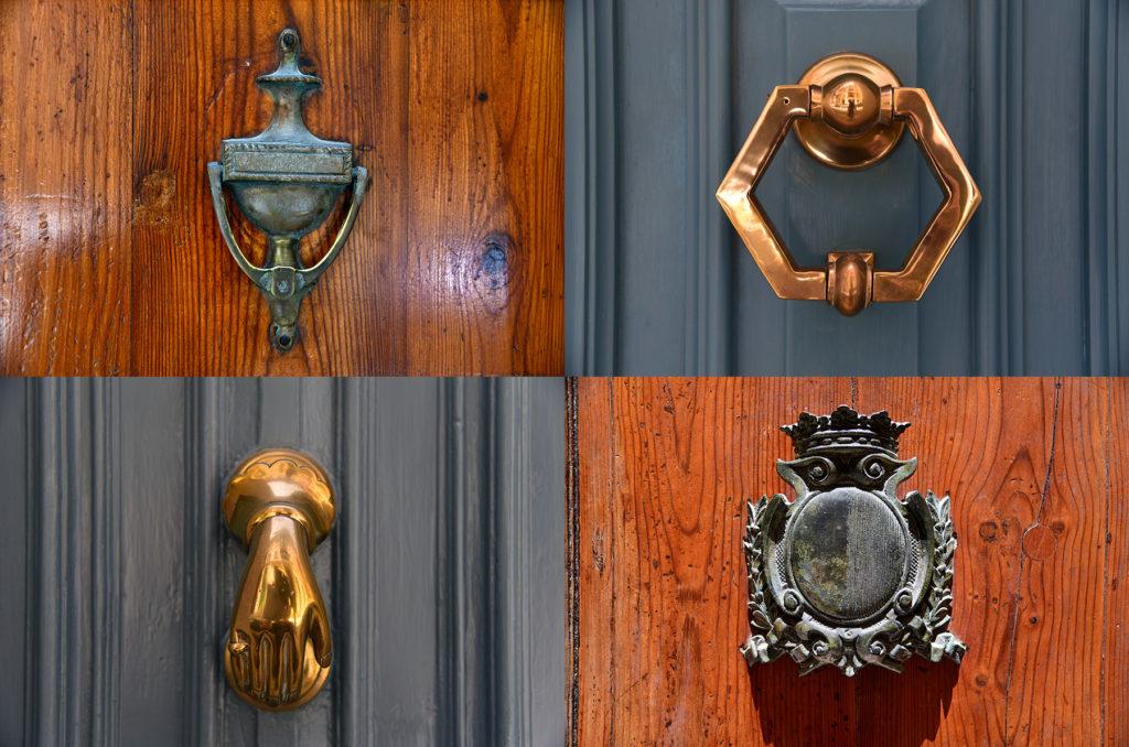 Klamki u drzwi - drewno i stal