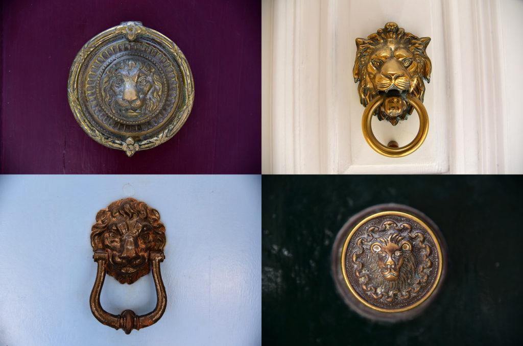 Klamki u drzwi - lwy