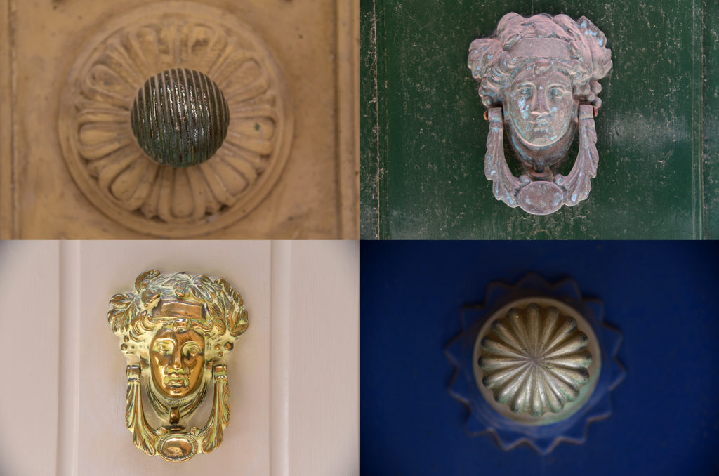 Klamki u drzwi - twarze i gałki