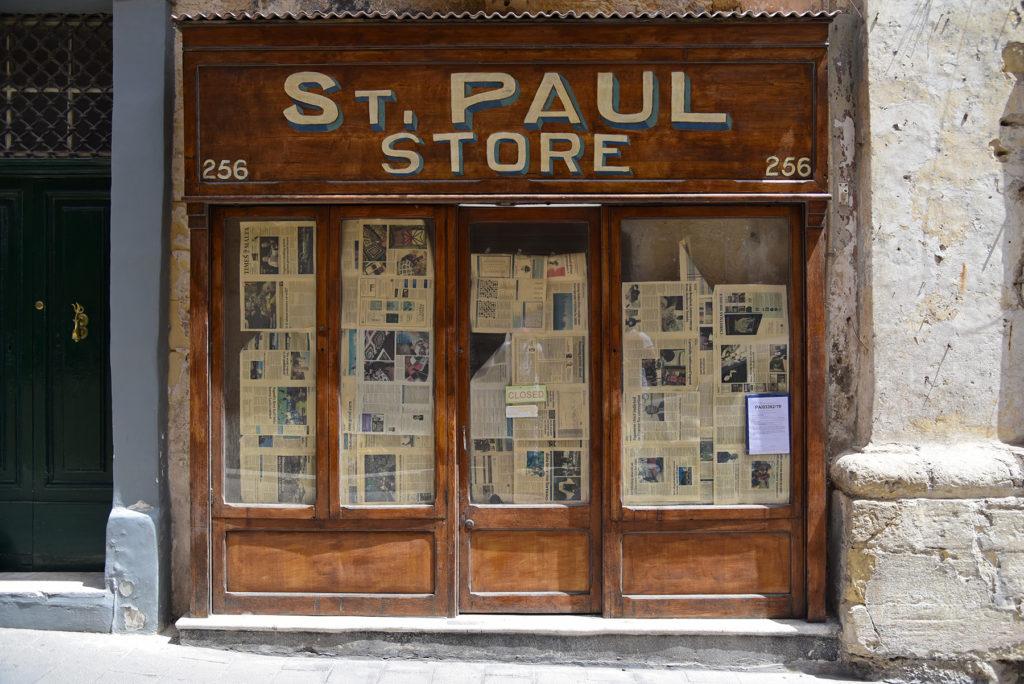 Valletta - sklep przy ulicy Świętego Pawła