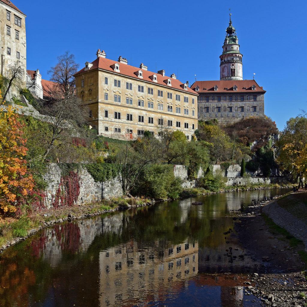 Czeski Krumlov - z mostu nad Wełtawą