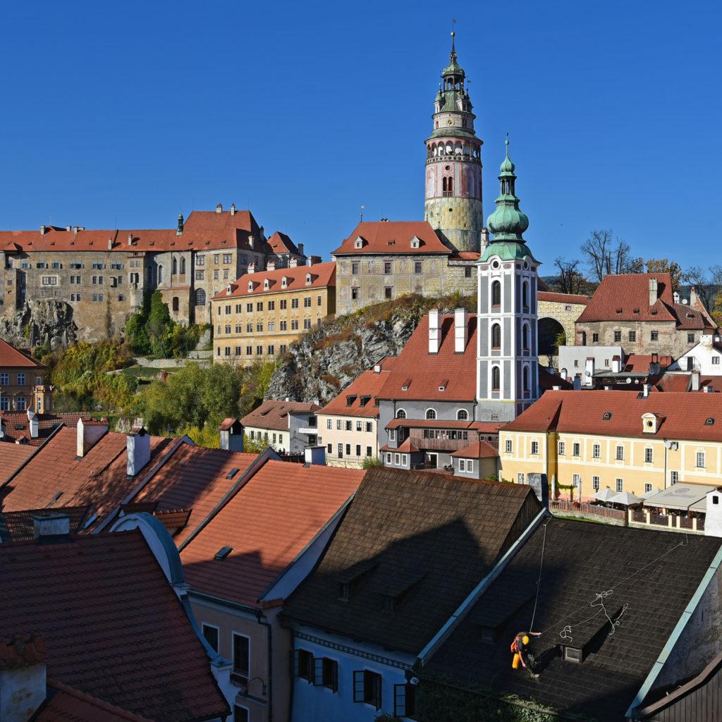 Czeski Krumlov - zamek z punktu widokowego