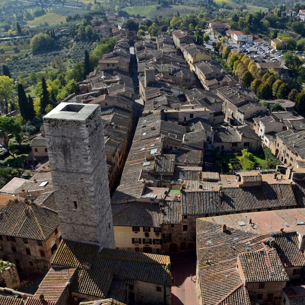 San Gimignano widok z wieży w stronę południową