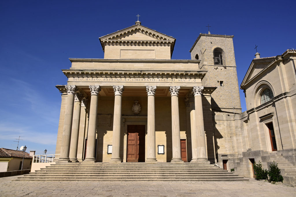 San Marino - fasada bazyliki św Maryna