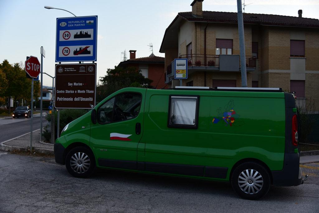 Na granicy Włochy - San Marino