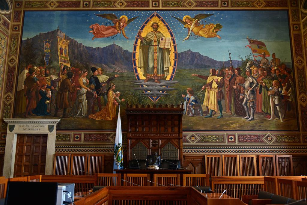 San Marino - sala obrad Parlamentu