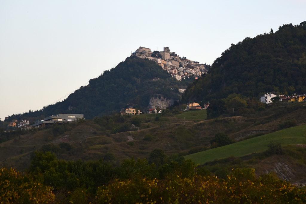 San Marino - widok na miasto od strony pólnocno-zachodniej
