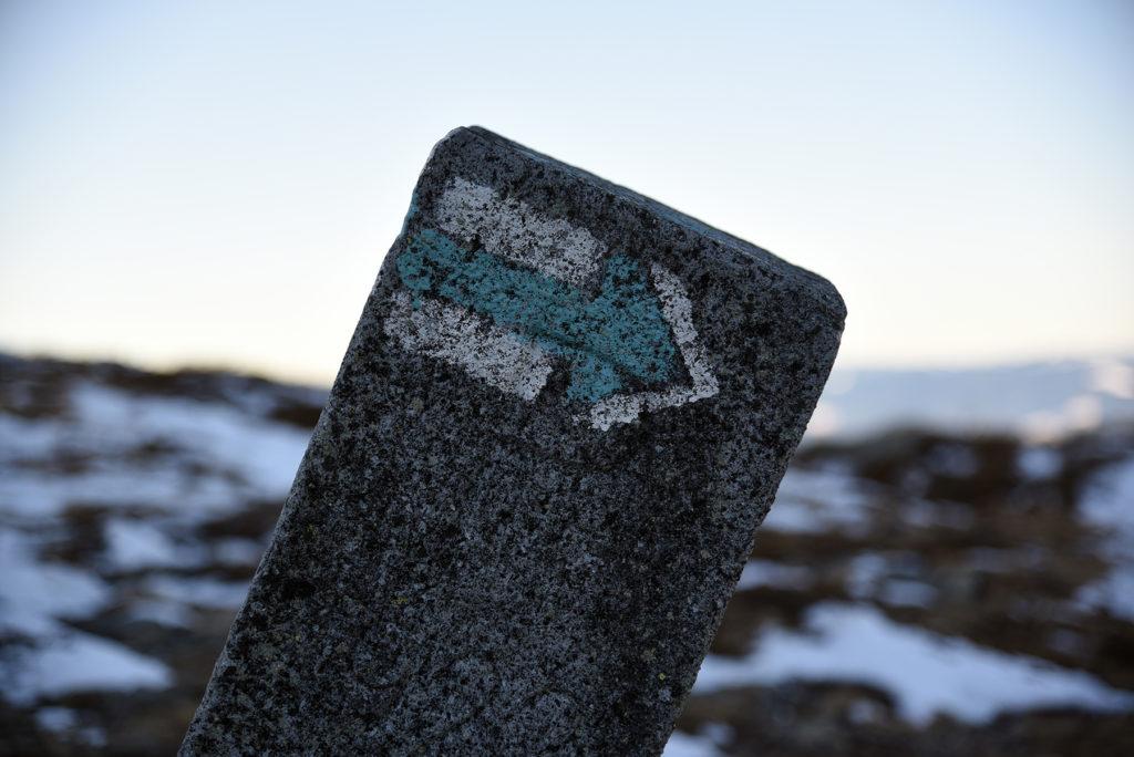 Dawny słupek graniczny - obecnie szlakowskaz