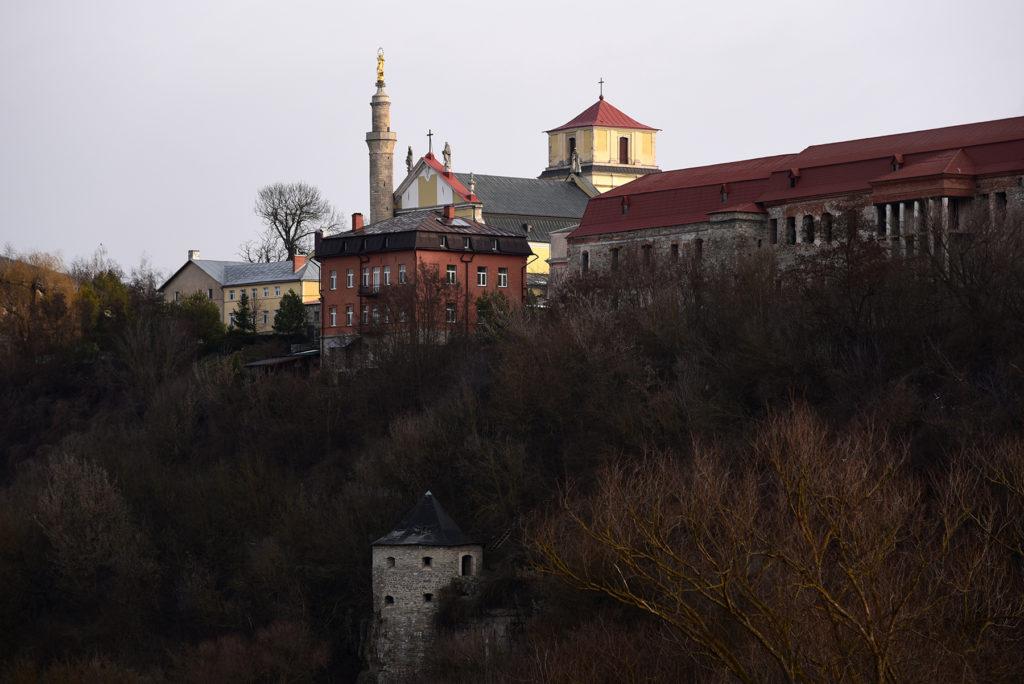 Kamieniec Podolski - panorama miasta z katedrą św Apostołów Piotra i Pawła