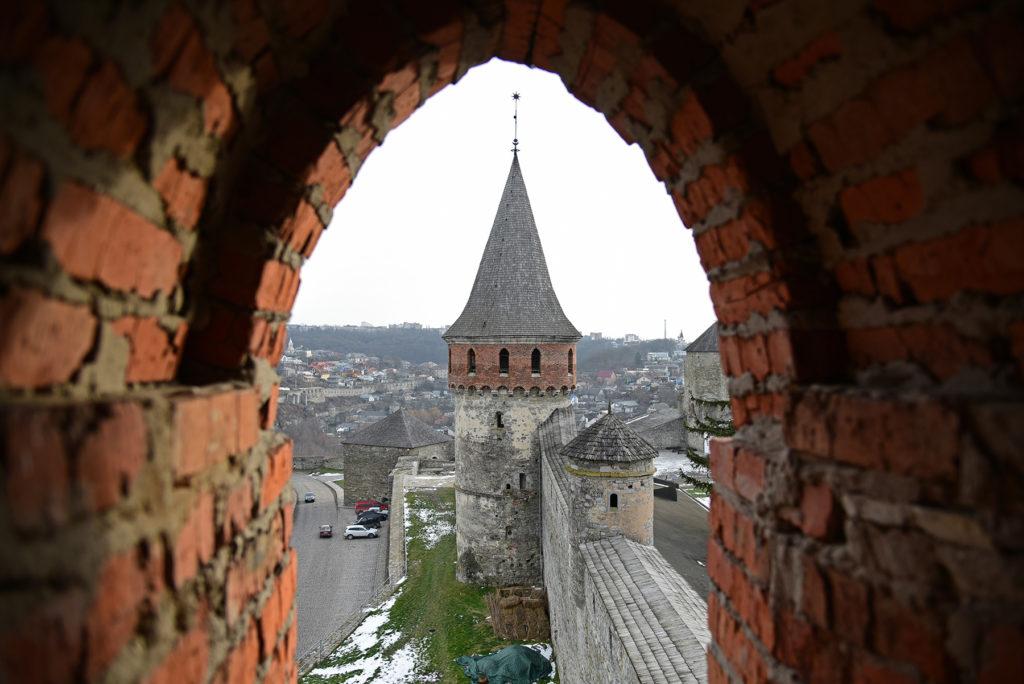 Kamieniec Podolski - widok z okien wieży