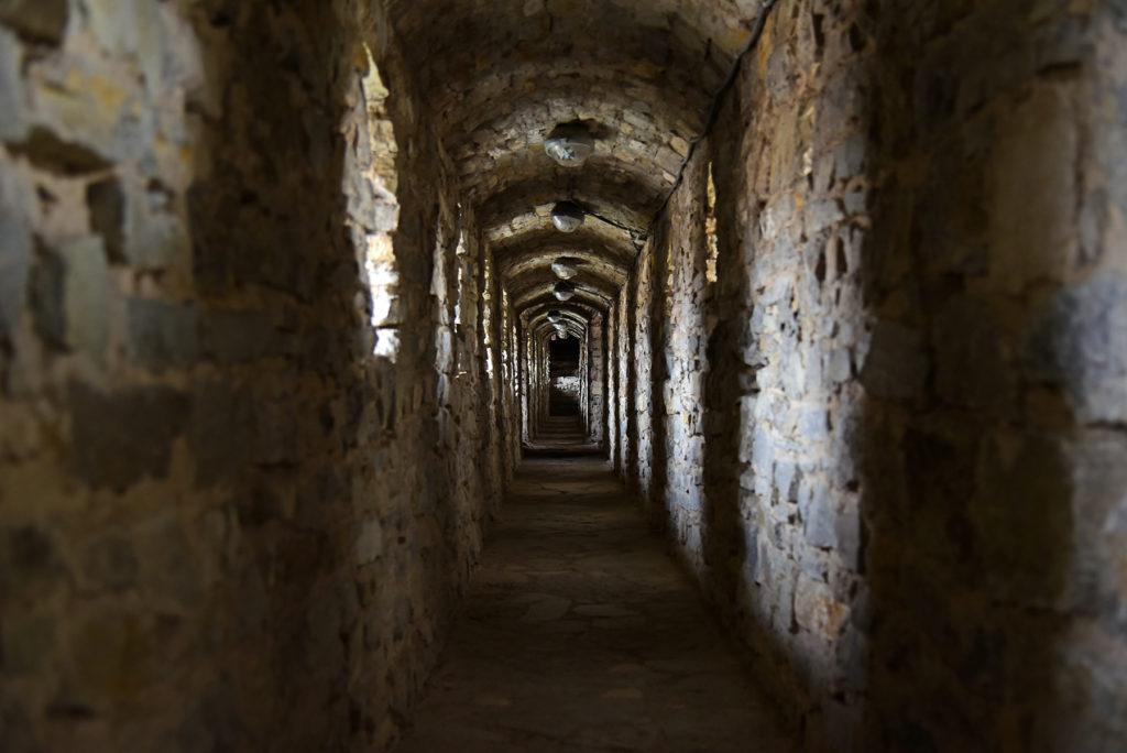 Kamieniec Podolski - wnętrze murów twierdzy