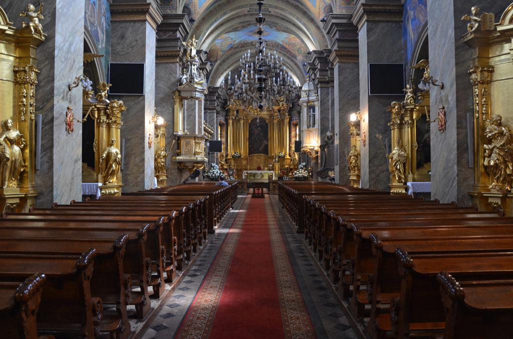 Bazylika katedralna Wniebowzięcia NMP w Kielcach - wnętrze