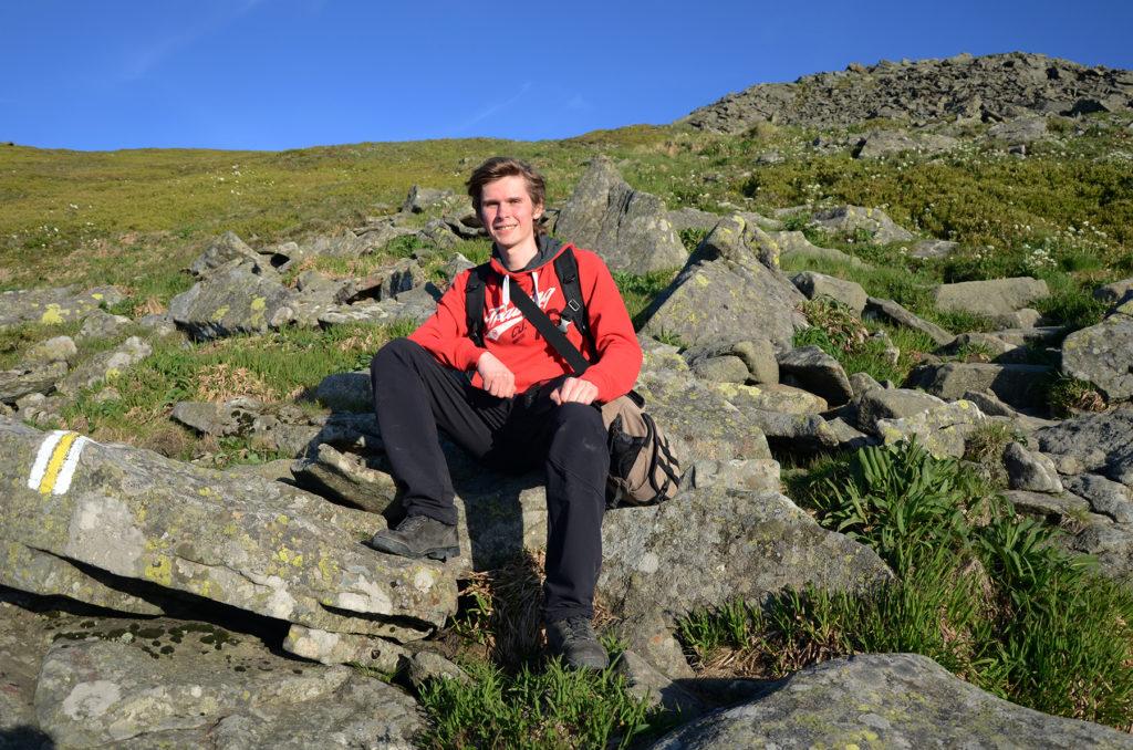 Odpoczynek przed szczytem Babiej Góry