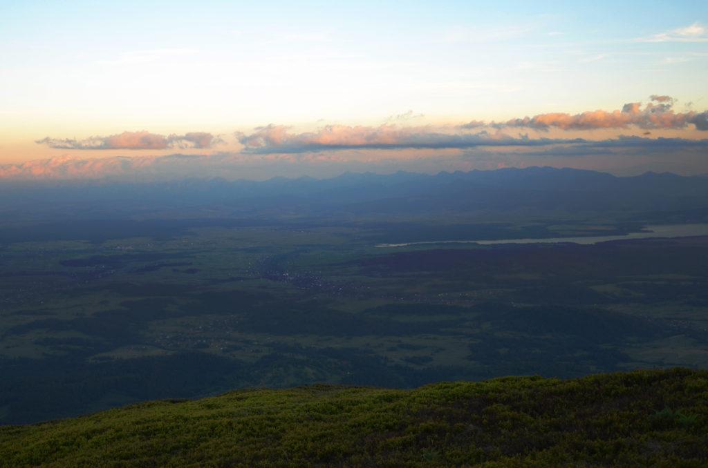 Panorama Tatr z Babiej Góry