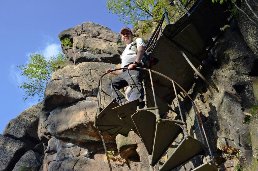 Sokoliki - metalowe schody